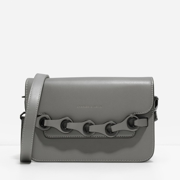 Charles & Keith Handbags - Charles & Keith Bullet Chain Clutch/Crossbody